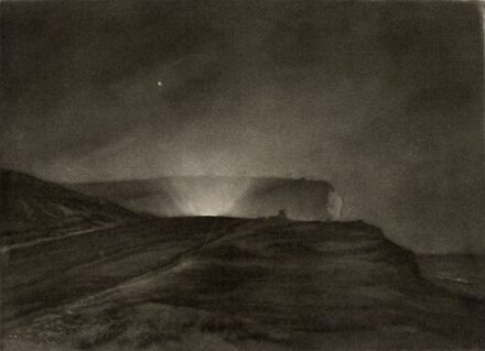 Frank Short The Headlights Over the Hill. 1927. Mezzotint. 6th & final state. H 127.