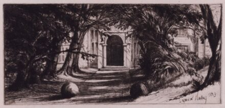 Haden Mytton Hall. 1859. Etching and drypoint. S.19.iii/v.